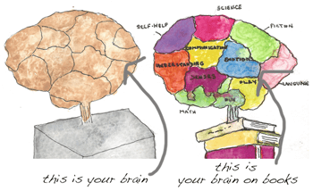 This is your brain on books.