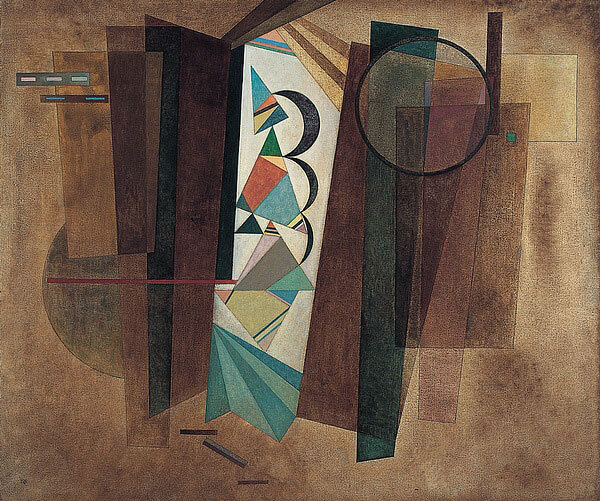 This shows a piece of art by Wasily Kandinsky